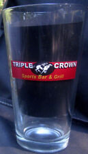 Budweiser Pint Beer Glass Triple Crown Sports Bar&Grill Horseracing Columbia Sc