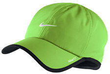 New Nike Feather Light Cap Hat Dri Fit Running Tennis  595510-366 Lime