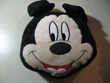 """11"""" x 12"""" plush Mickey Mouse pillow with zipper pouch, good condition"""
