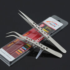 10 pcs Non-magnetic Tweezers Plier Stainless Steel for Jewelry ICs Eyelash