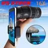 16x52 Zoom Hiking Dual Focus Monocular Telescope Phone Holder Pouch 66M/8000M