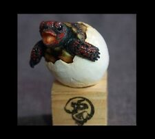 Baby Cherry Red Foot Footed Tortoise Turtle Resin Finished Model Figurine