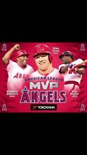 LA Angels MVP Blanket (Mike Trout, Vladamir Guerrero, Don Baylor) SGA 4-24-15