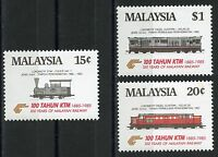 MALAYSIA  SCOTT#301/03 TRAINS SET  MINT NH --SCOTT VALUE $11.00
