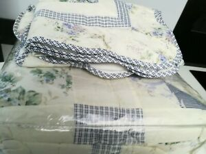NEW KINGSIZE TOLIE PATTERN PATCHWORK QUILT WITH MATCHING PILLOWSHAMS