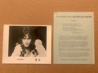 Eddie Money 1978 ORIGINAL Columbia Records 2 Page Biography and 8x10 Press Photo