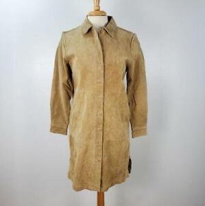 Vintage Chelsea Studio Suede Trench Coat Women's Size 12 Petite