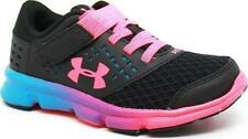 Under Armour Grade School Flow TCK Girls Running Shoes 1282520 001 Black//White