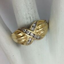 14K YELLOW GOLD DIAMOND RING SIZE 10.25