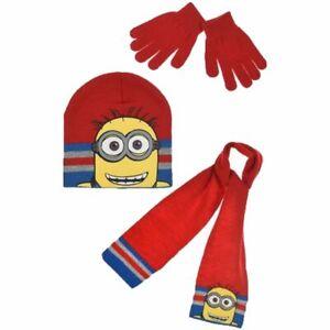 Minion Boys Hat Scarf and Gloves Set (Bob)