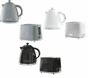 1.7L Jug Kettle Auto Switch Off 2 Slice Toaster Browning Control Argyle Design