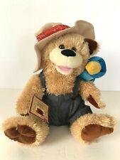"Chantilly Lane Pete & Tweet Duet Zip-A-Dee-Doo-Dah singing plush bear & bird 12"""
