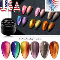 6Colors MTSSII 5ml 9D Galaxy Cat Eye UV Gel Nail Polish Magnet Soak Off Varnish