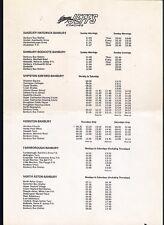 Bus Timetable Handbill ~ Jeffs Coaches - Banbury to Northampton Oxford etc 1990s