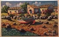 Olio su tela Paesaggio 25 x 40 cm firmato e autenticato - A. Cammarata