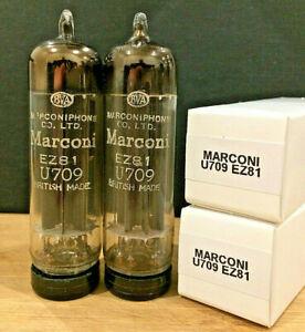 1x (LAST) NOS 1956 Marconi U709 = EZ81/6CA4 Marconiphone Co Ltd AVO Tested 100%+