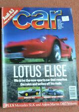 Car magazine August 1996 Lotus Elise v Ginetta G27 v Renault Sport Spider, SLK,