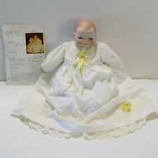 """Vintage Bye-Lo Baby 1979 15"""" Bisque Hands Handcrafted Clothes w/Orig Doll Record"""