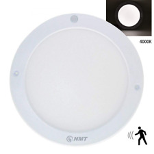 LED Panel Light Surface Mounted Round Flush Motion Sensor Ceiling Body Dimmable