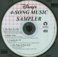 Disney's 4-Song Music Sampler MUSIC CD He Mele, Bella Notte, Cruella, Time Life