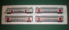 Märklin H0 4 tlg. Doppelstock Wagen Set SNCB / NMBS KK 29474 43573 Neu