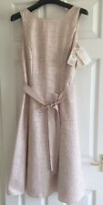 Jacques Vert Women's U.K 8 Nude Pink Dress RRP £199 BNWT