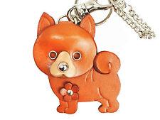Shiba Inu Leather Dog Keychain Bag Charm Vanca Made in Japan #26046