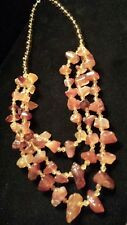 """CHUNKY CARNELIAN Necklace - 3 Strands of Large Natural Carnelian Nuggets, 16-20"""""""