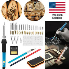 Woodworking Supplies Stencil Soldering Iron Tools Pyrography Craft Kit Brass Tip
