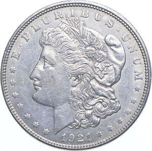 Early - 1921-D Morgan Silver Dollar - 90% US Coin *859
