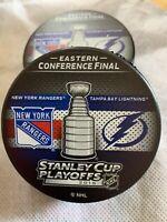 2015 NHL New York Rangers, Stanley Cup Playoffs Hockey Puck/rare & Unlimited Edi