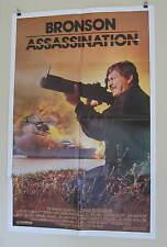 "ASSASSINATION ORIGINAL USED American MOVIE POSTER 1987 27"" X 41 Bronson/Irland"
