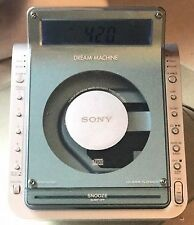SONY ICF-CD855V DREAM MACHINE TV WEATHER AM/FM 4-BAND CD CLOCK RADIO