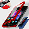 360° Full Cover Hybrid Case + Tempered Glass  For Samsung J4 J6 J8 J3 J5 J7 Pro
