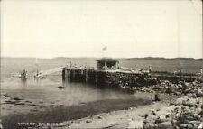 Bayside ME Boat Wharf Real Photo Postcard