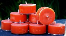 10pk 120hr/pk PUMPKIN SPICED LATTE Triple Scented ORGANIC SOY TEA LIGHT CANDLES