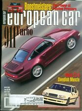 1995 European Car Magazine: Porsche 911 Turbo/Volvo T5-R Swedish Muscle
