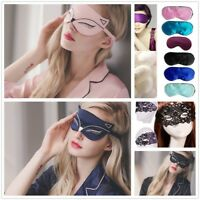 Women Sexy Silk Eye Cover Fox Sleep Mask Soft  Aid Blindfold Shade Accessories