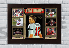 More details for tom brady (7) tampa bay buccaneers nfl autograph poster print signed #54