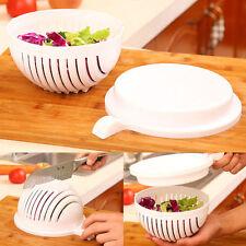 Tazón De Fuente De Ensalada Cortador forzando cesta para ensalada de frutas y verduras Cortador Tazón de fuente