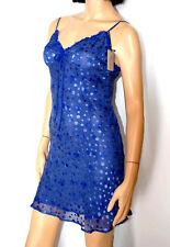 """Marjolaine Nuisette 80 soie Bleu Modèle """"rita-0102"""" Taille XS 36"""