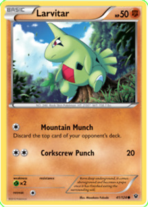 Pokemon TCG XY Fates Collide Larvitar 41/124 - Brand New Genuine