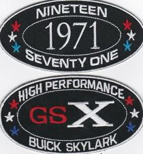 1971 BUICK GSX SKYLARK SEW/IRON ON PATCH EMBLEM BADGE EMBROIDERED 455