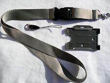 Silver/Grey Lanyard with Detachable Buckle &  Grey Rigid ID Card Holder UK