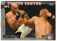 2015 Topps UFC Chronicles Silver Parallel #59 Ben Saunders