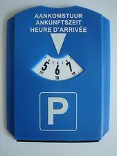 Auto Parkscheibe mit Eiskratzer und Gummilippe - Kunststoff Parkuhr blau