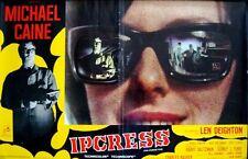 IPCRESS FILE Italian fotobusta photobusta movie poster MICHAEL CAINE rare 1965