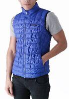 DUCK and COVER Men Puffer Bodywarmer Sleeveless Fashion Bomber Gilet Vest Blue