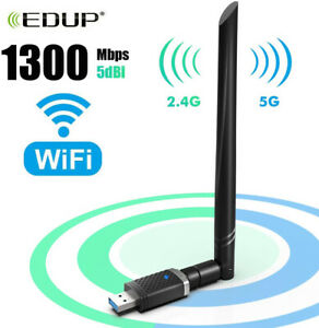 EDUP Dual Band AC1300Mbps USB 3.0 Wifi Adapter 5G/2.4Ghz For Mac Desktop #AC1686