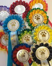 1st horse pony gymkhana 6th Place Christmas Silver Star Rosettes Dog Show